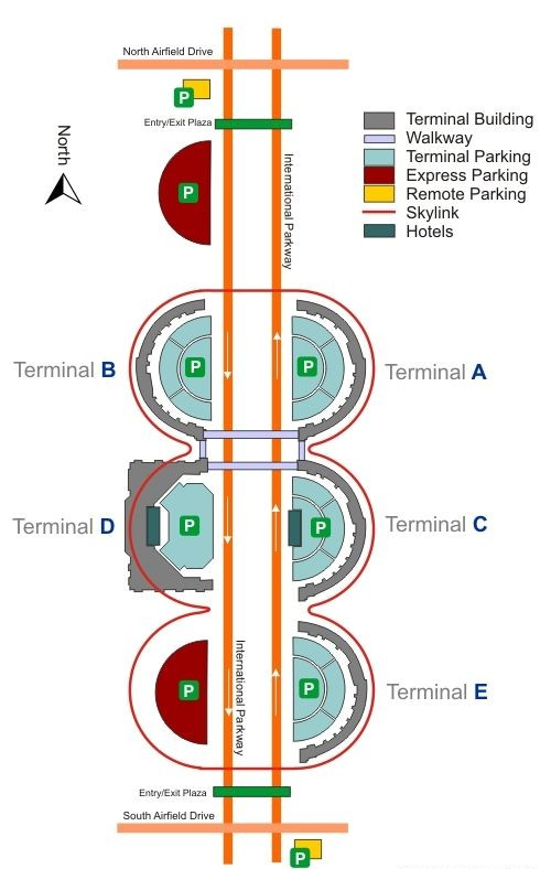 Dallas/Fort Worth International Airport terminal complext